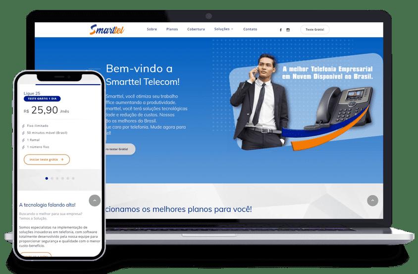 Criação de sites - Cliente Smarttel Telecom